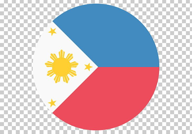 Flag Of The Philippines Emoji Filipino PNG, Clipart, Area, Circle.