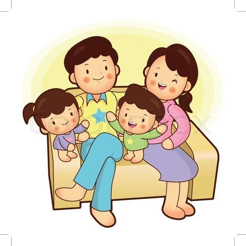 Filipino family clipart.