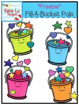 Bucket Filling Activities: FREE Fill A Bucket clip art..