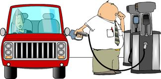 Cartoon Gas Pump Stock Photos, Images, & Pictures.