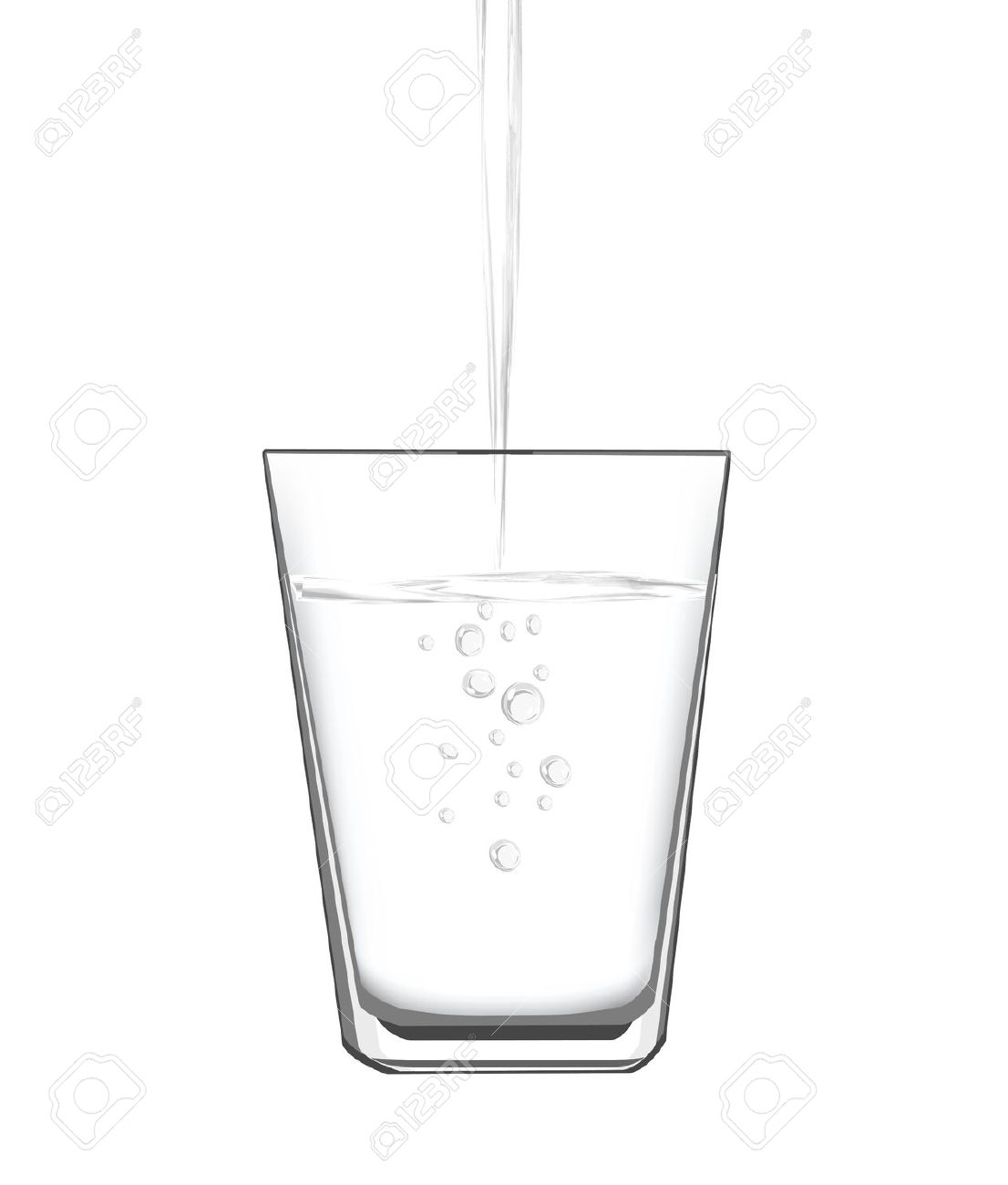 Water drop fill up clipart black and white.