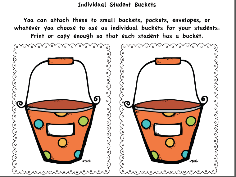 Fill my bucket clipart.