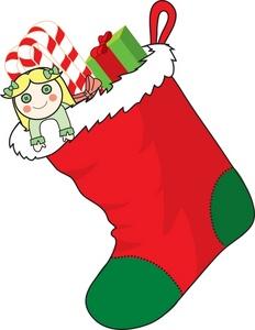 Free Stocking Clipart Image.