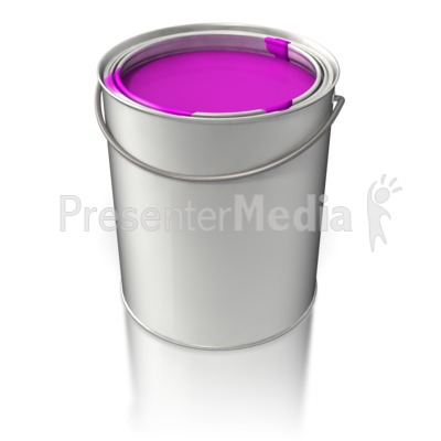 Filled Paint Bucket.