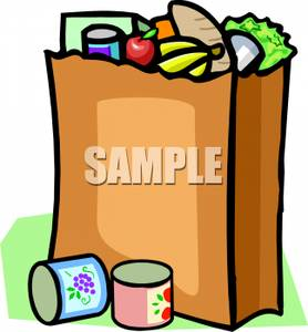 Bag Of Food Clipart.