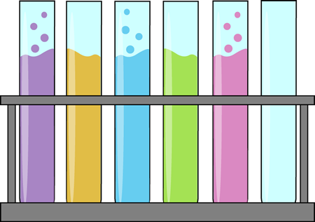 Test Tubes in a Holder Clip Art.