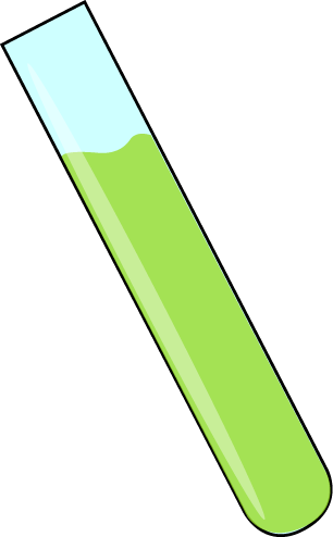Science Test Tube with Green Liquid Clip Art.