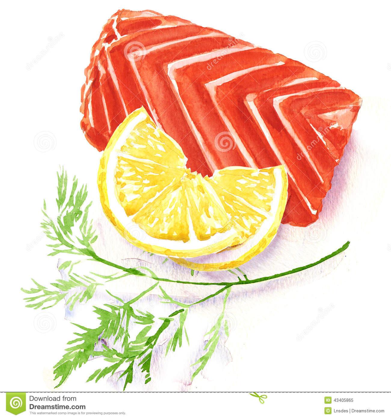 Fish Fillet Illustration Stock Vector.