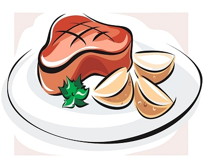 Steak And Potatoes Clipart.