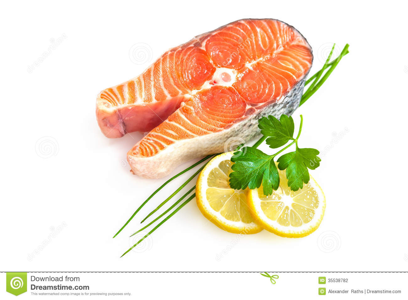 Fresh Salmon Fillet Stock Photography.