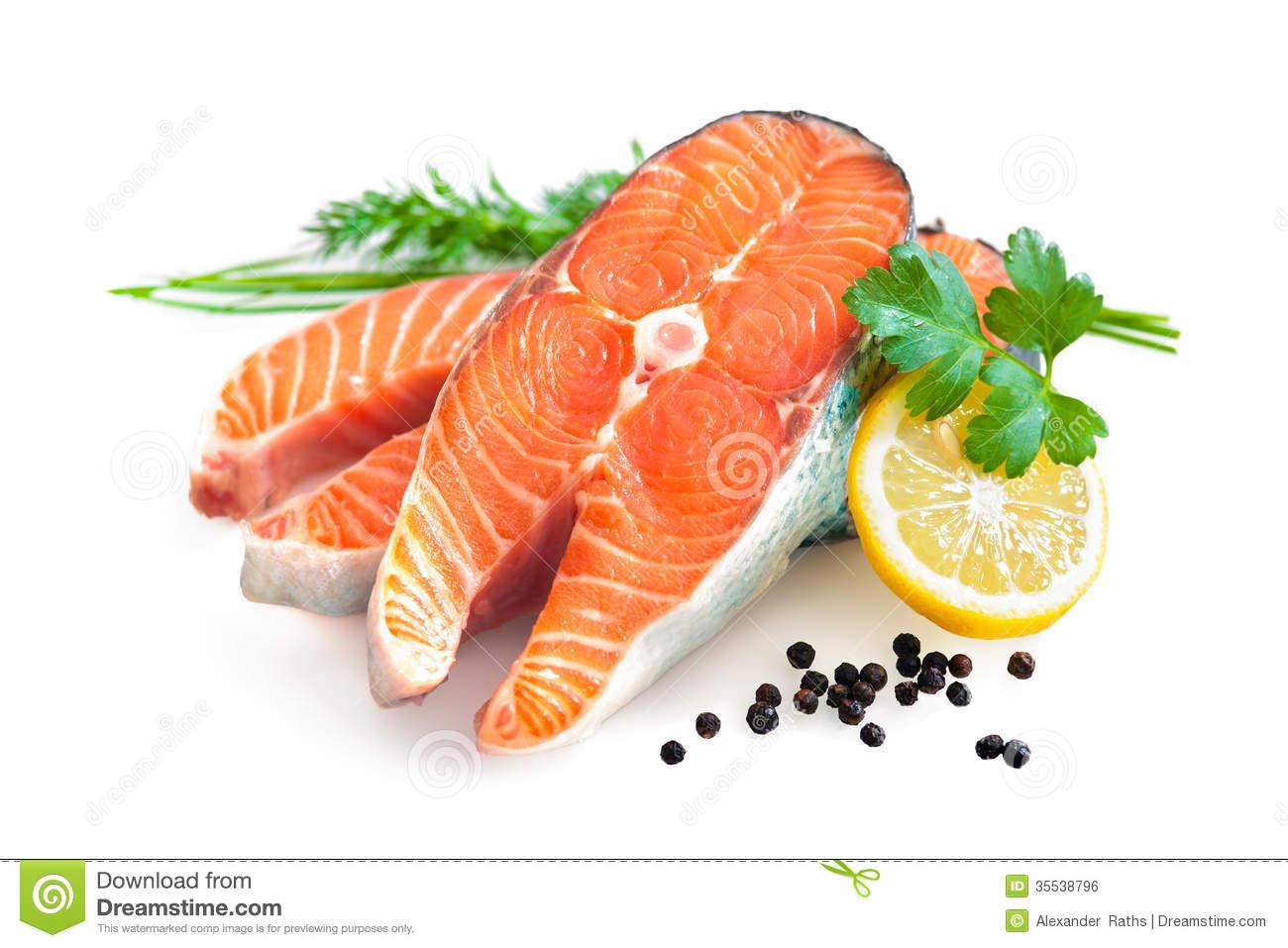 Fresh Salmon Fillet Royalty Free Stock Image.