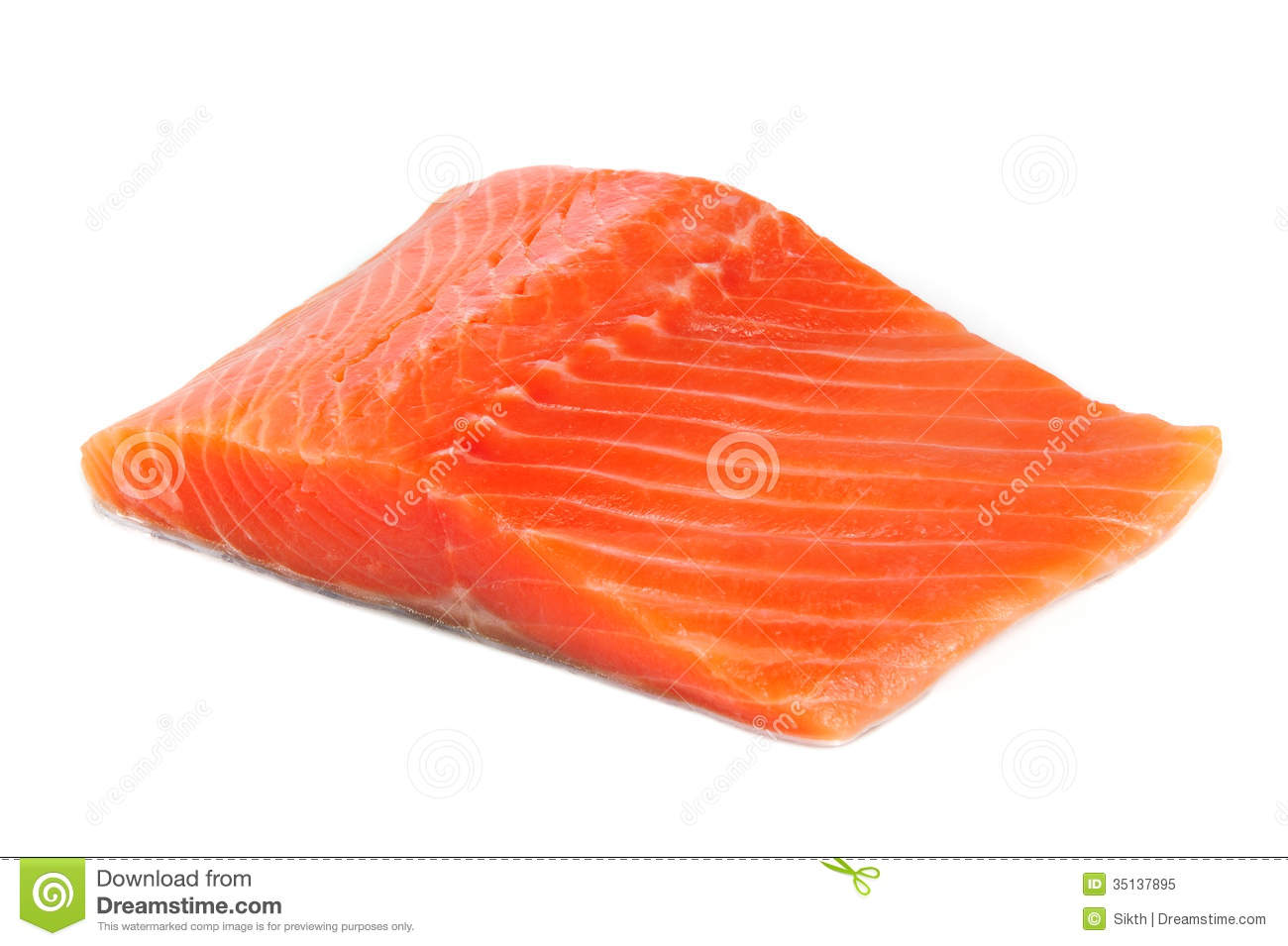 Salmon Fillet Isolated On White Background Royalty Free Stock.