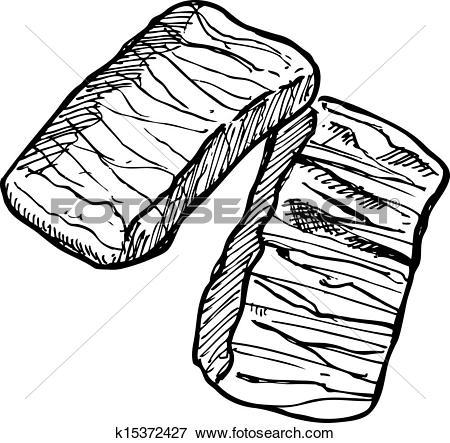 Clip Art of fish meat fillet k15372427.