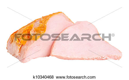 Pictures of Whole pieces and sliced turkey breast fillet k10340468.