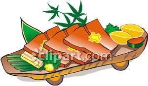 Salmon_Fillets_With_Lemon_and_Butter_Royalty_Free_Clipart_Picture_081013.