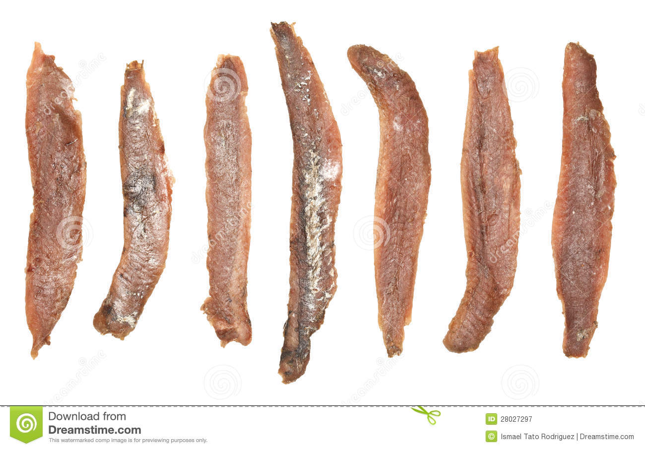 Anchovies Fillets Stock Photos.