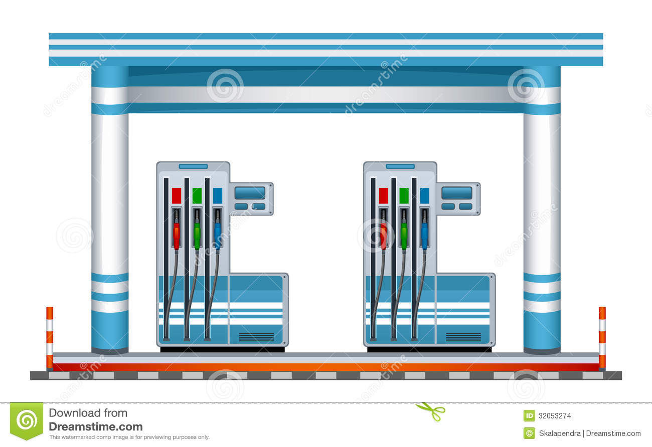 Filling station clipart.