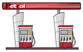 Petrol Station Clip Art.