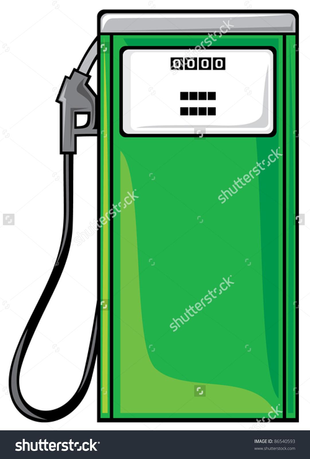 Petrol Station Stock Vector 86540593.