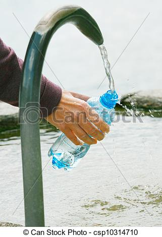 Fill Water Bottle Clipart.