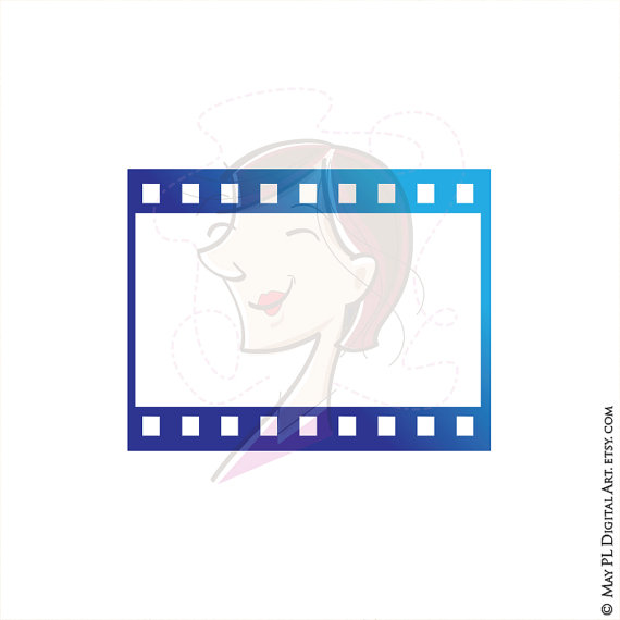 8mm Film Filmstrip Photographer Frames Clip Art por MayPLDigitalArt.
