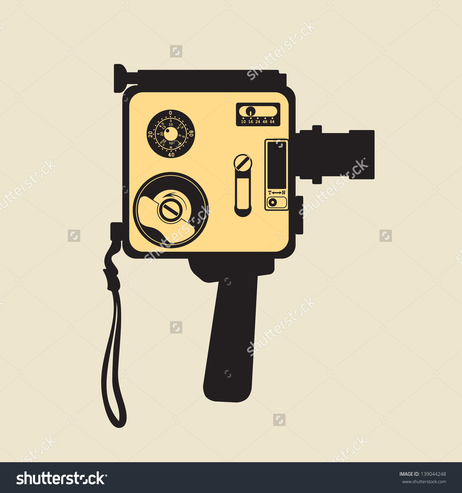 Vintage 8mm Film Camera Stock Vector 139044248.