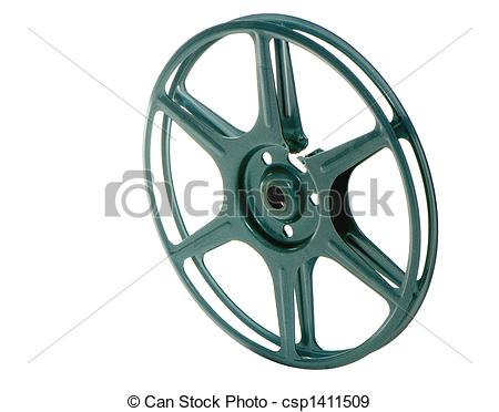 Stock Photographs of 8MM FILM PROJECTOR WHEEL.