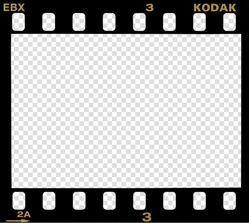 Film Borders FRAMES, black Kodak film border transparent.