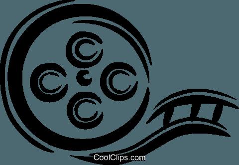 film canister Royalty Free Vector Clip Art illustration.