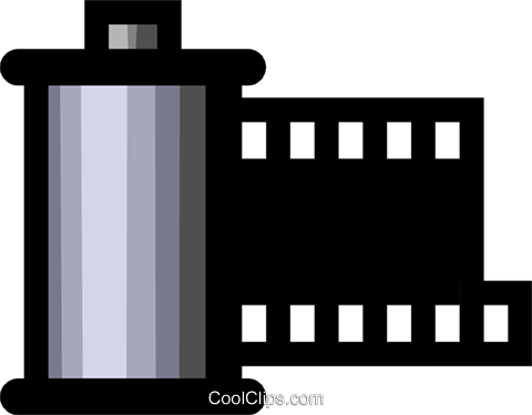 Symbol of a 35mm film canister Royalty Free Vector Clip Art.