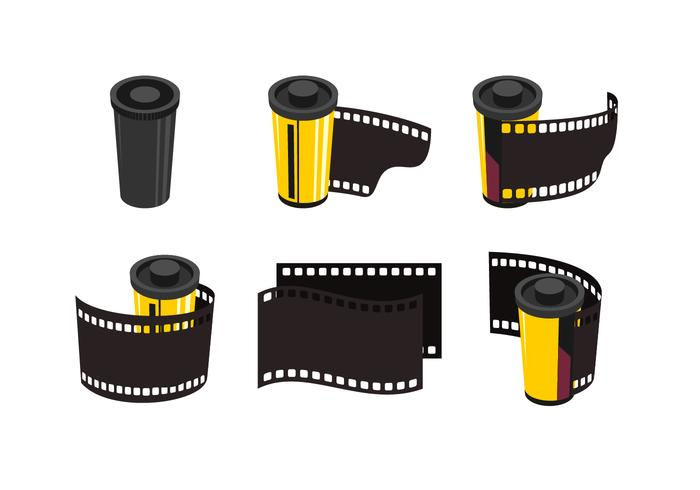 Film & Canister Vector Collection.