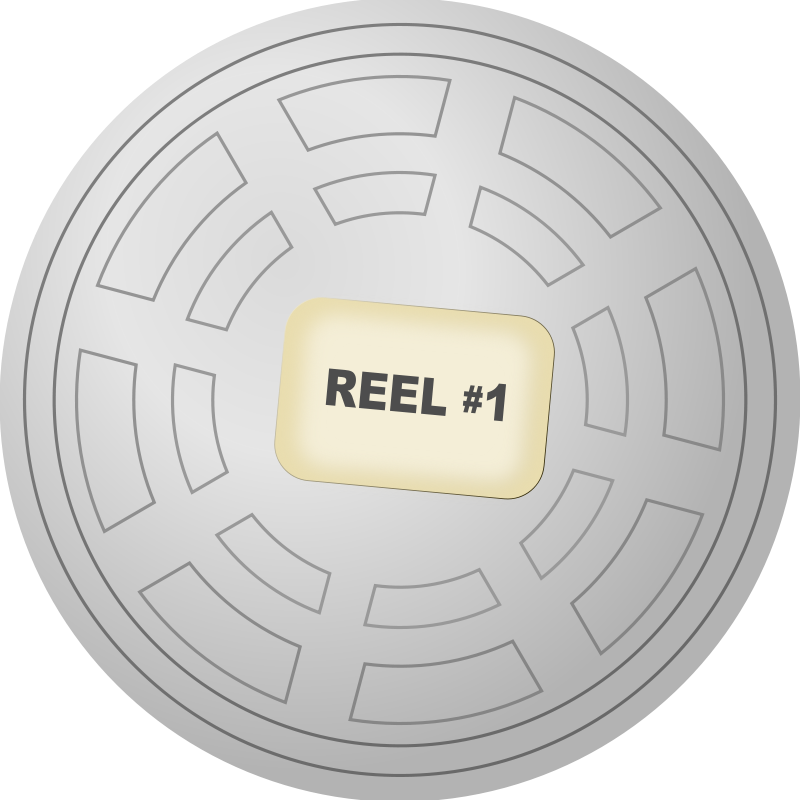 Free Clipart: Motion Picture Film Reel Canister.