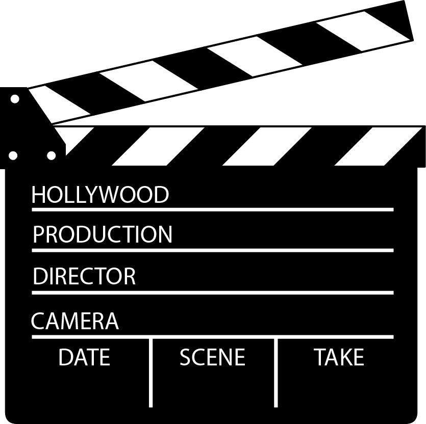 film clapboard clipart #7.