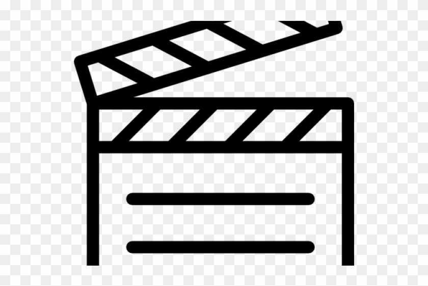 Clapperboard Clipart Movie Themed.