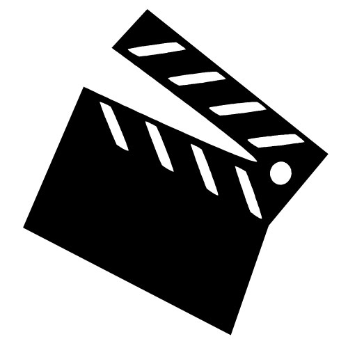Movie clipart black and white.