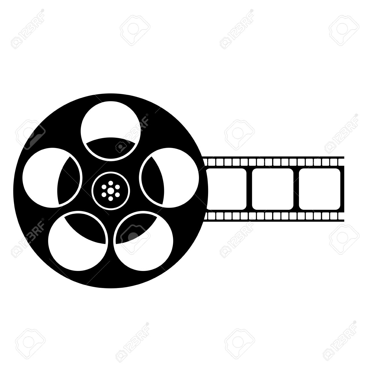 Movie Reel Clipart Black And White.