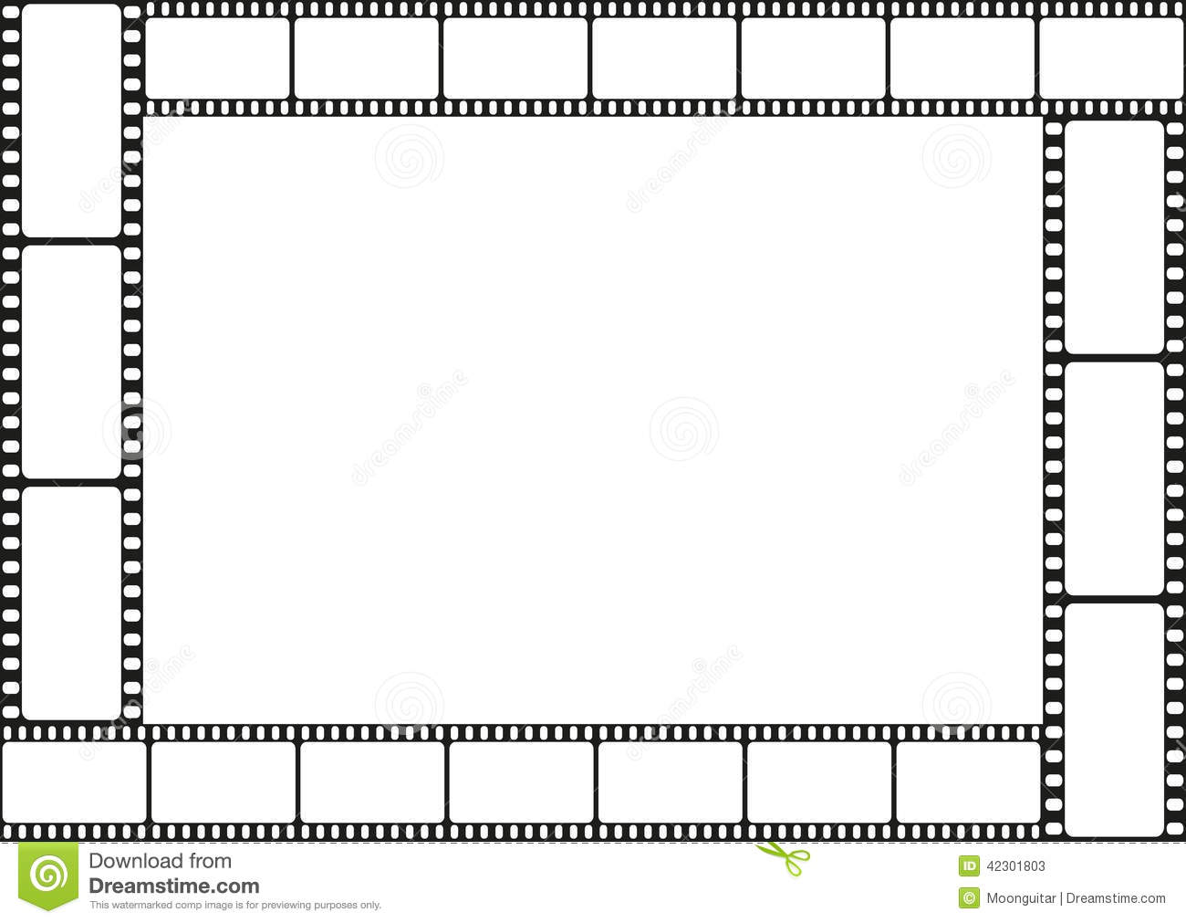 Movie Film Border Clipart.