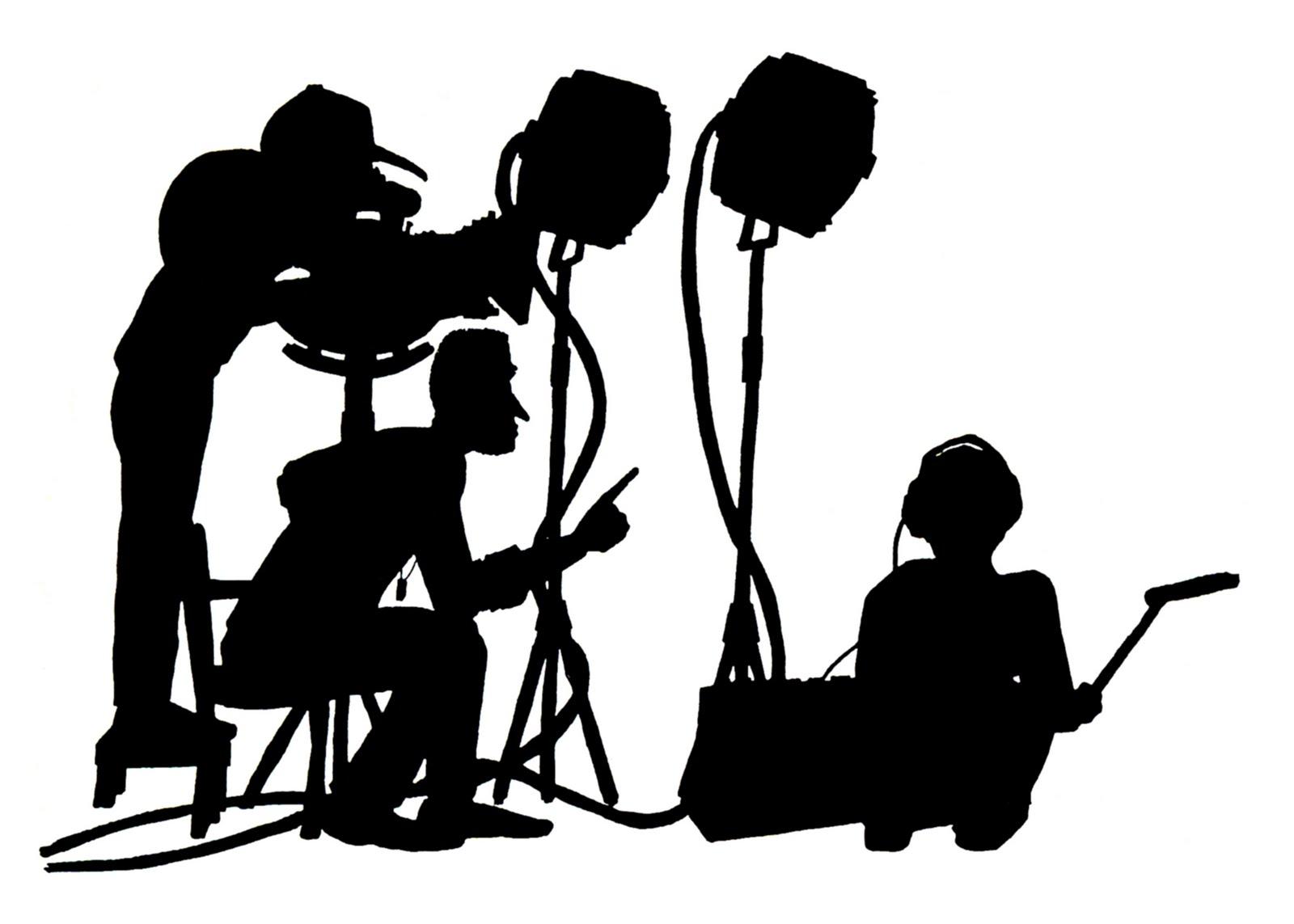 Film crew clipart.