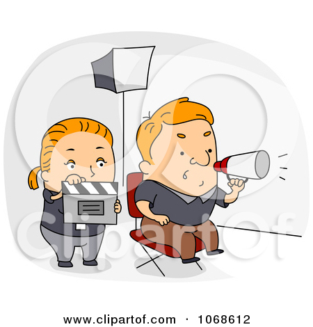 Clipart Film Director And Movie Assistant.