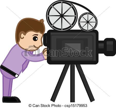 Director camera clipart.
