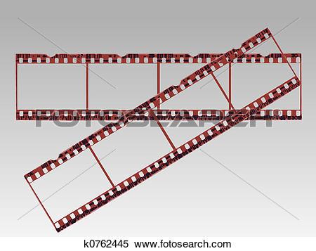 Stock Illustration of Transparent Film Strips in Vector format.