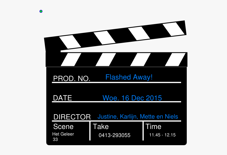 Hollywood Director\'s Film Movie Slateboard Clapper.