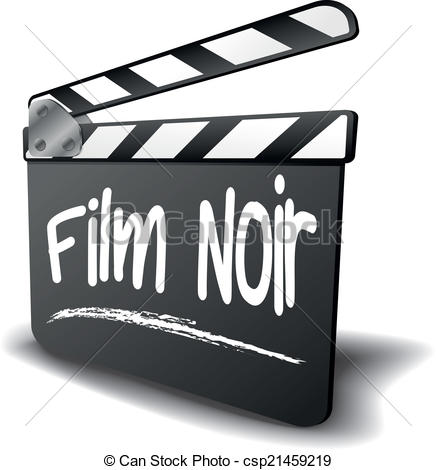 Clapper Board Film Noir.