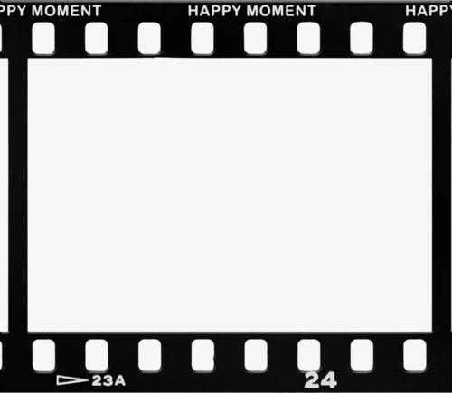 Film Clips Border, Film, Frame, Black PNG Transparent Clipart Image.