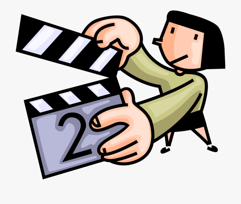 Producer With Clapperboard Image Illustration Of Cinematic.