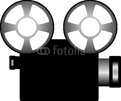 Old Fashion Movie Projector Clipart.
