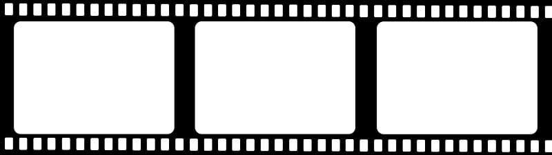 Rectangular white and black frame illustration, Film Reel , Film.