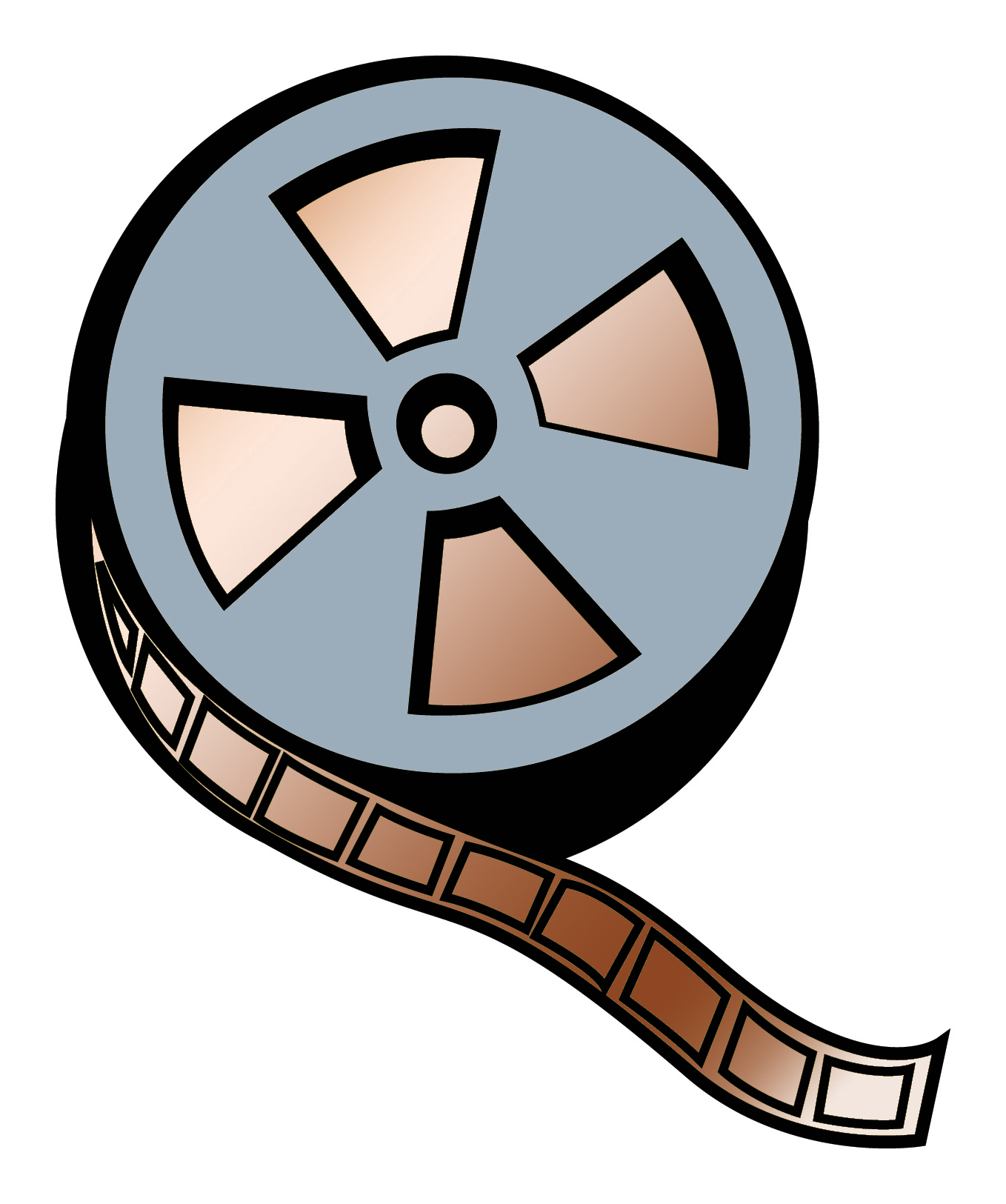 Animated film reel clipart.