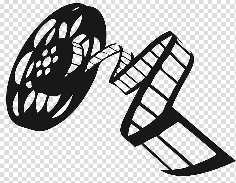 Reel tape , graphic film Black and white , film reel transparent.
