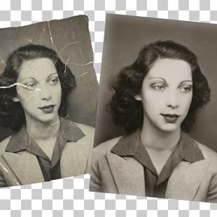 Digital photograph restoration Nose Black and white Frames.